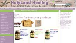 custom ecommerce website for health food store